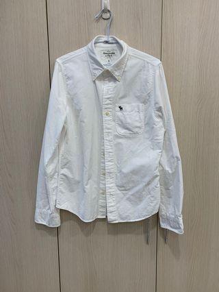 Abercrombie&Fitch 白色長袖襯衫