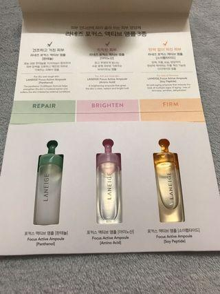Laneige Focus Active Ampoule Trial Kit