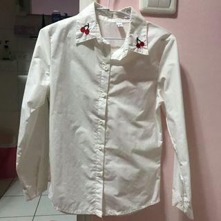 超可愛櫻桃🍒領襯衫