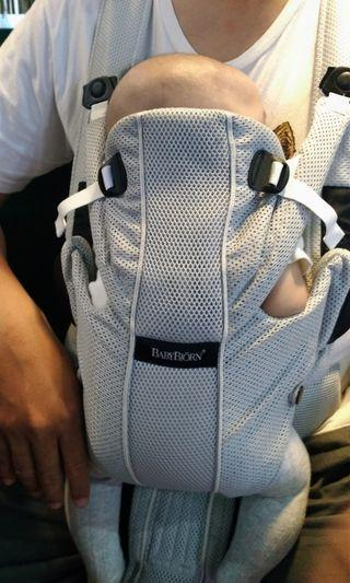 Baby Bjorn Airy Mesh Silver/ Baby Carrier/ Gendongan Bayi