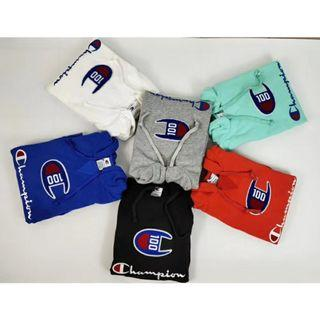 Champion 100 Embroidered Hoodie Pullover Sweater