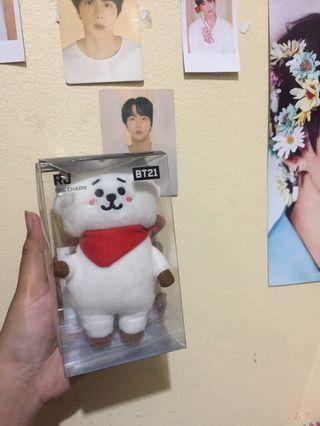Bt21 bag charm plush doll official rj