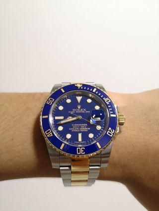 Rolex Submariner half gold blue