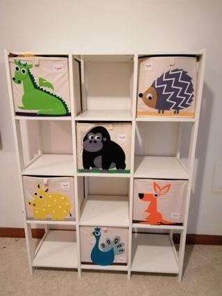 6x3Sprouts boxes with IKEA Shelving Unit