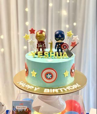 Superhero customised cake