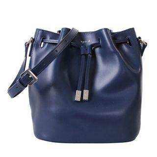 Agnes b 深藍水桶包