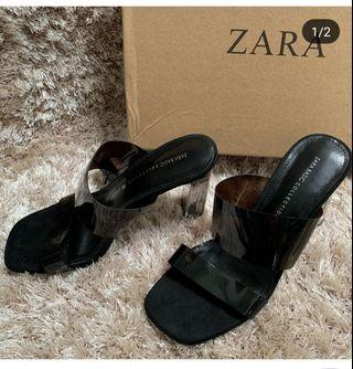 ZRA Vynil Sandals Black