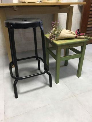 Solid metal steel high chair for bar dinning table