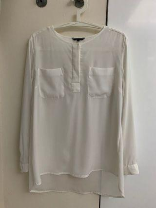 Executive White Blouse
