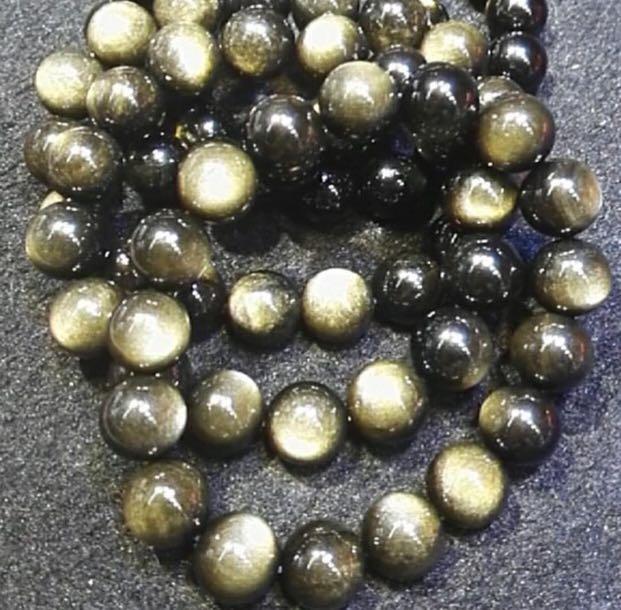 雙怡天然水晶:高級金曜石 12mm 手珠