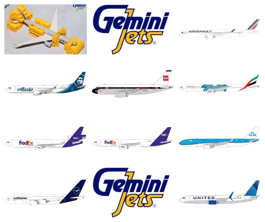 [ Gemini Jets  1:400 & 200 ]  ** Pre-Order 預售新品**   - 歡迎查詢 $$ Enquires Welcome $$