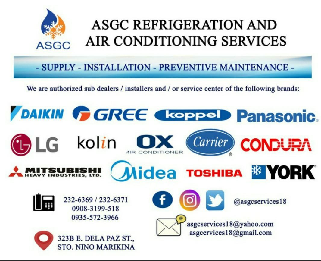 Aircon Supply Free Installation Daikin, Gree, Haier, Kolin