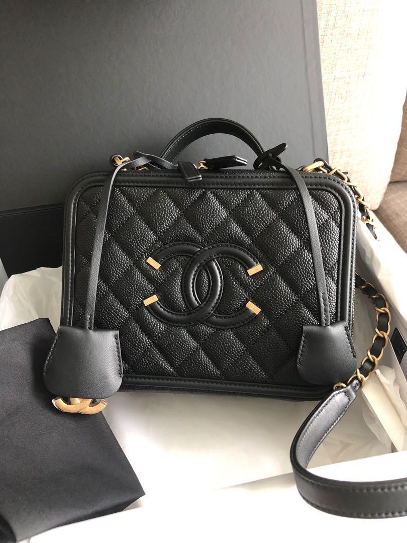Authentic Chanel Vanity case medium size