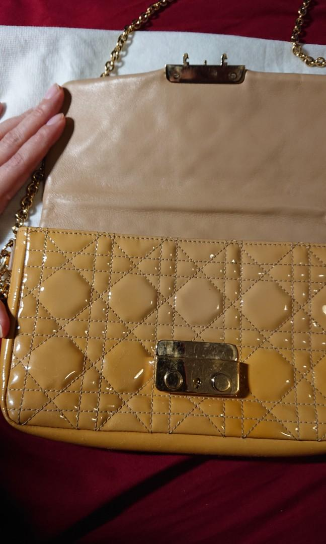 Authentic Christian Dior Cannage Clutch with sling