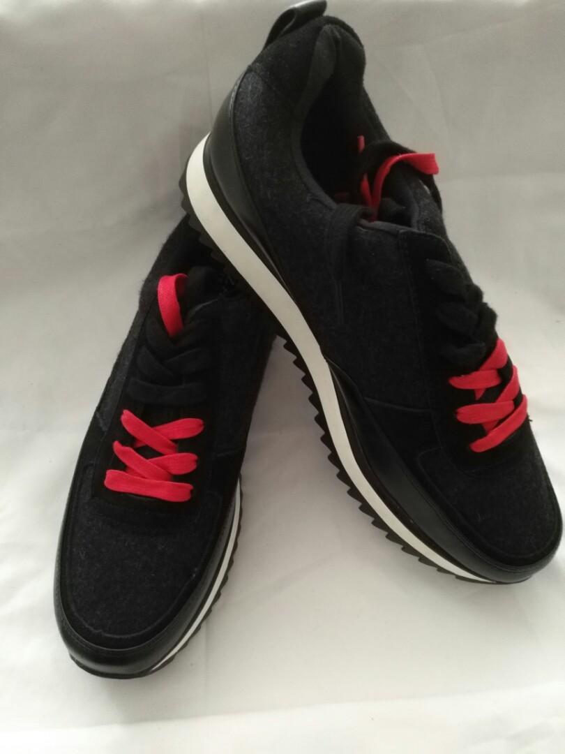 Black Gamuza Shoes, Women's Fashion