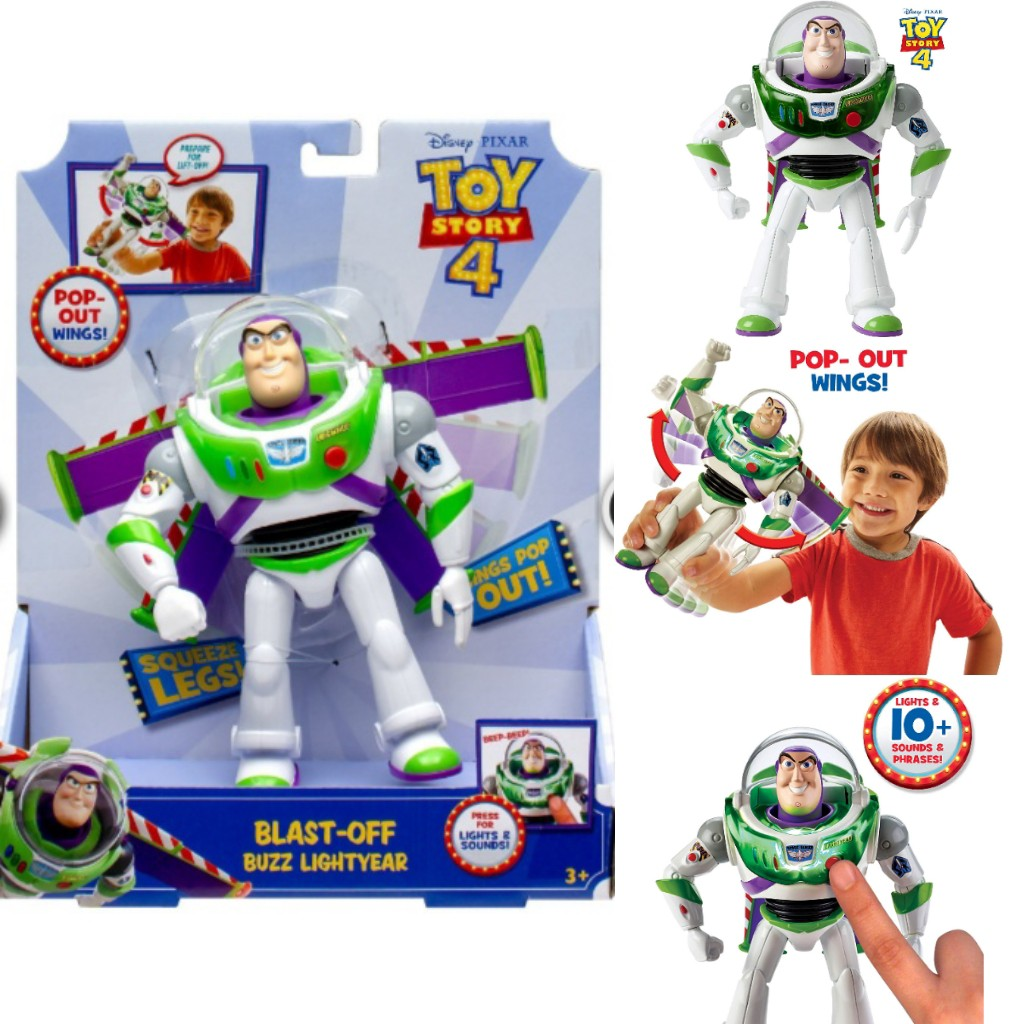 Toy Story 4 Buzz Lightyear Blast Off Action Pop Out Wings Disney Pixar