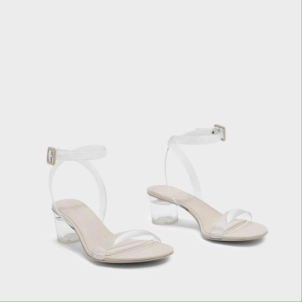 Charles and Keith Transparant Sandals