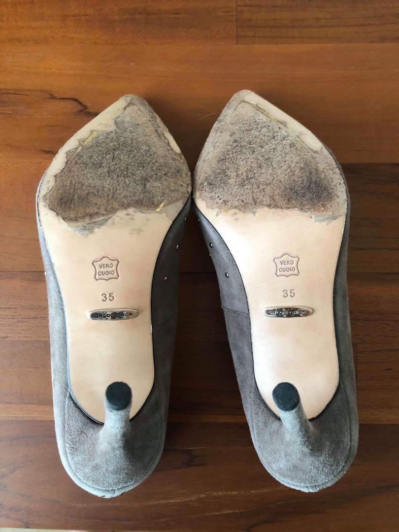 Chloe Chen 麂皮高跟鞋 35號