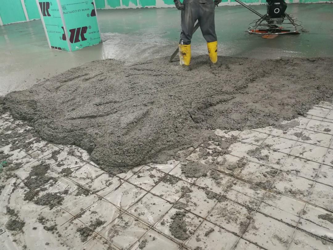 Commercial cement screeding
