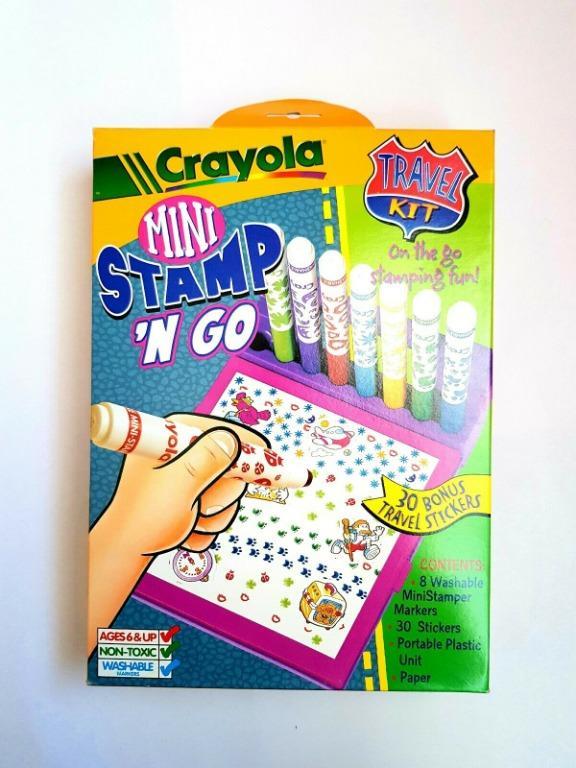 Crayola Mini Stamp n Go Travel kit (Portable plastic Unit & Stamp Markers)