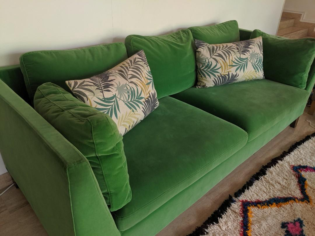 Green Velvet Sofa Stockholm