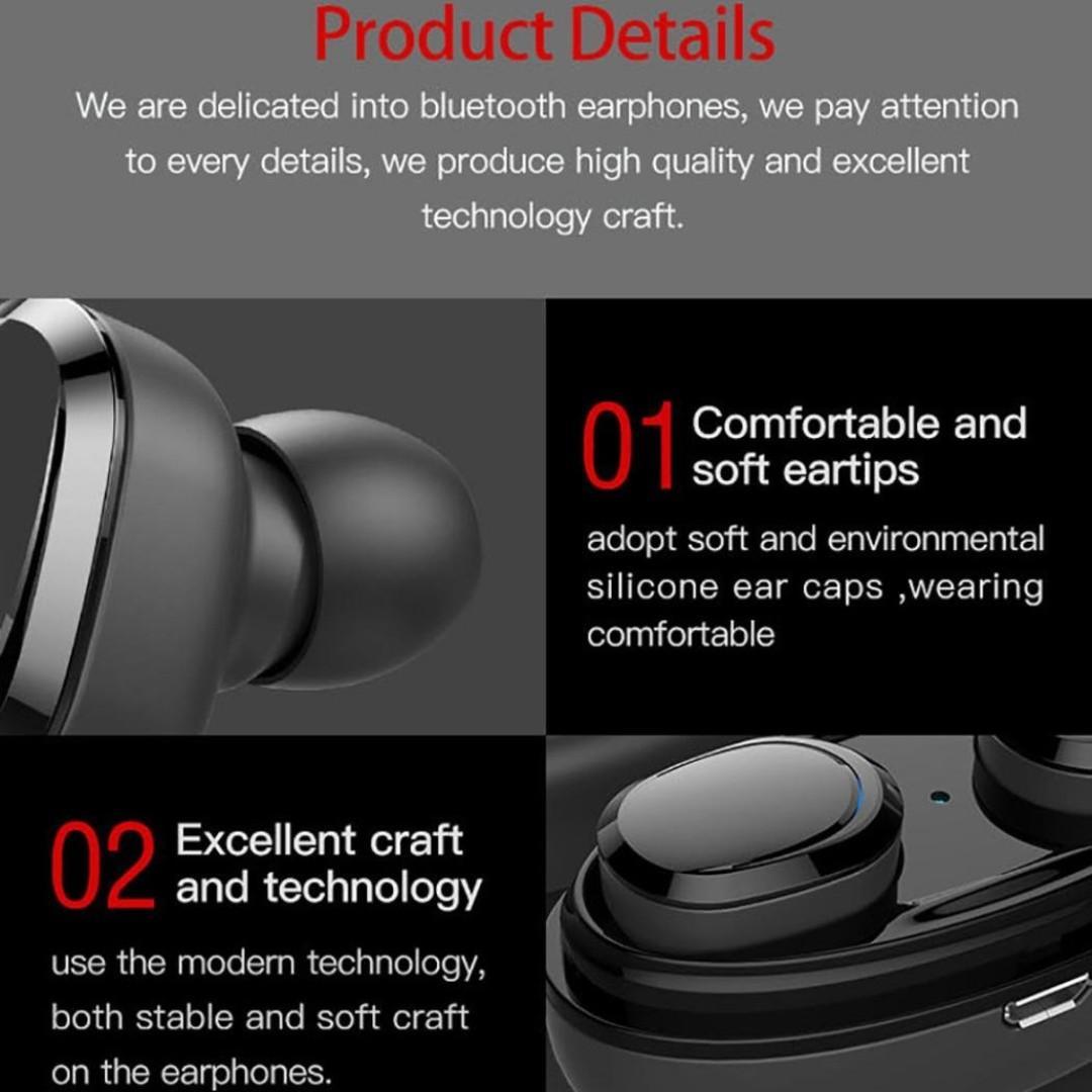 Item#358 - T12 TWS Bluetooth 4.1 Headphones