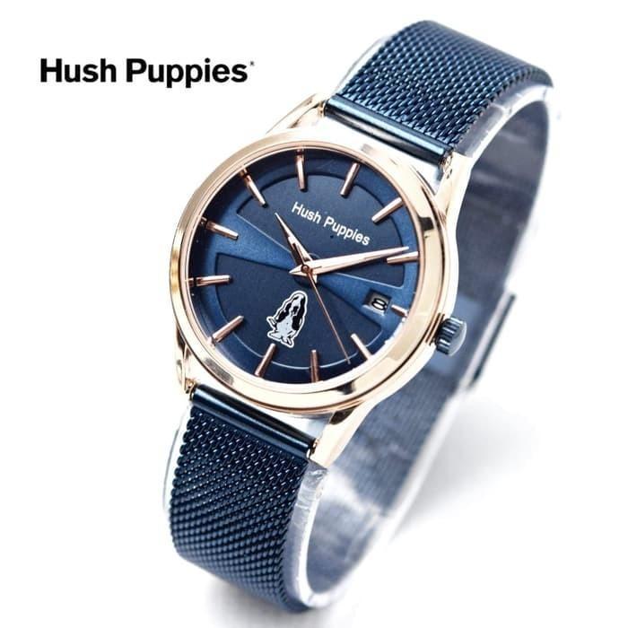 Jam Tangan Wanita Hush Puppies Biru gold