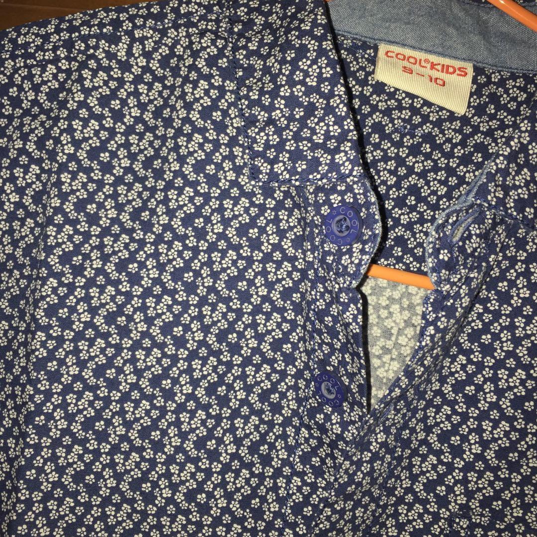 Kemeja Biru bunga/ floral top