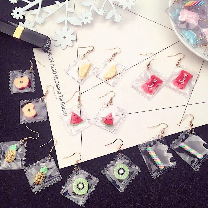 Korean Style Earrings (Candy Sweets)