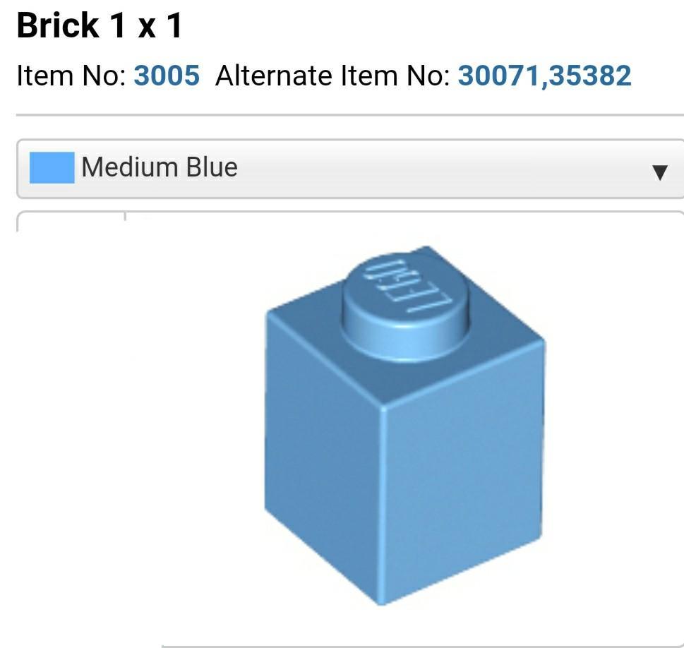 25 to 100 Pieces LEGO Trans-Medium Blue Brick 2x2