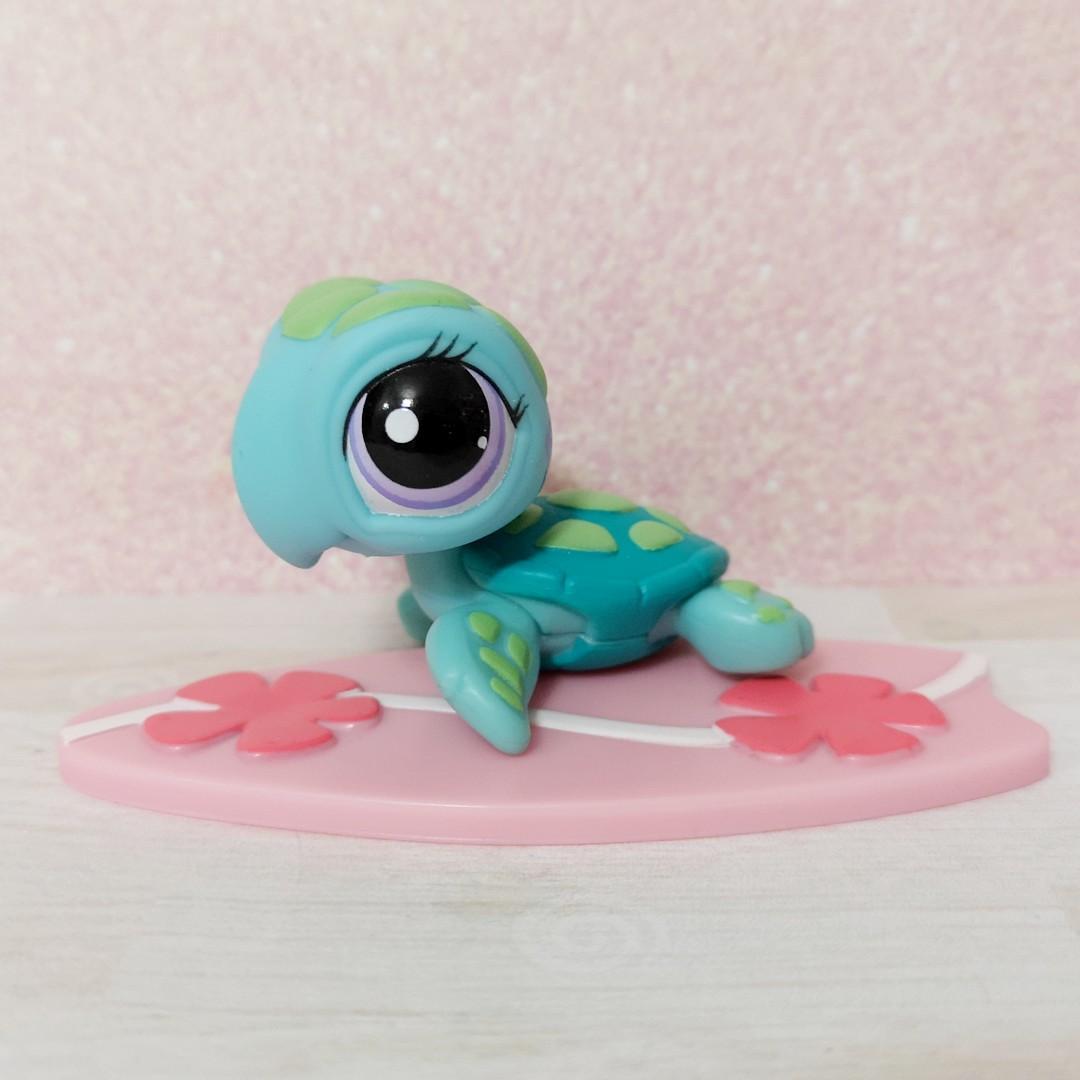 Lps Littlest Pet Shop Sea Turtle And Surfboard Set Toys Games Bricks Figurines On Carousell