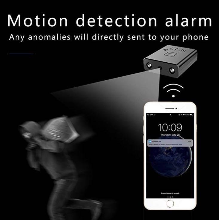 (M111) mallest WiFi Spy Hidden Cameras,Mini Indoor HD Wireless Camcorder IP P2P Covert Nanny Home Car Security Surveillance System Video Recorder with Motion Detection,Night Vision for iOS/Android, PC