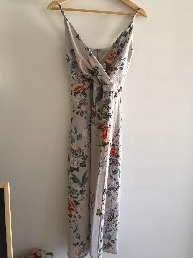 MDS magnolia floral maxi dress