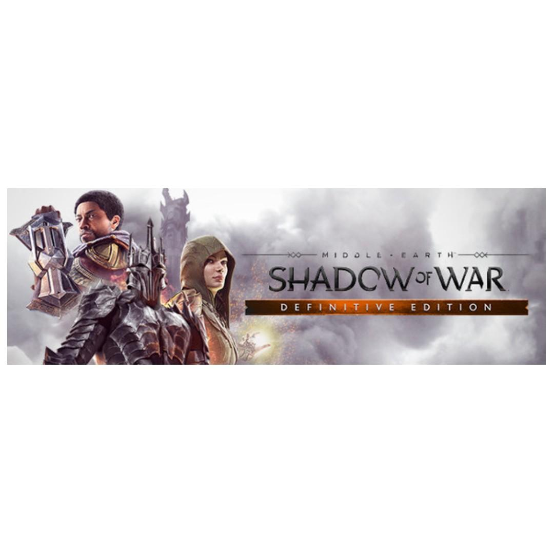 MIDDLE EARTH SHADOW OF WAR DEFINITIVE EDITION / STEAM GAMES