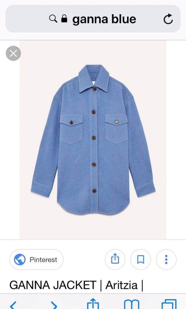 Not for sale! Looking for aritzia Wilfred free ganna blue jacket- xxs,xs or small