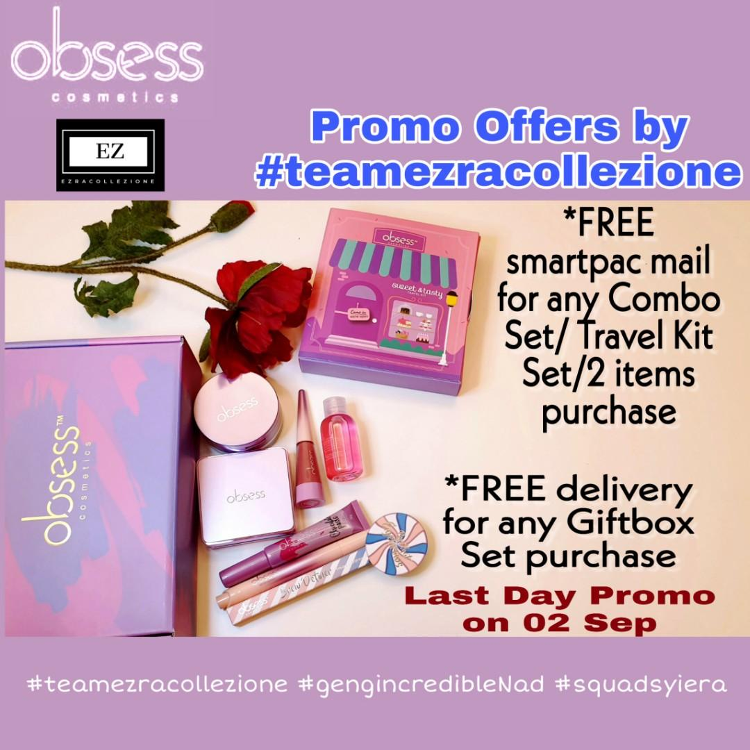 Obsess Cosmetics Shipping Promo Health