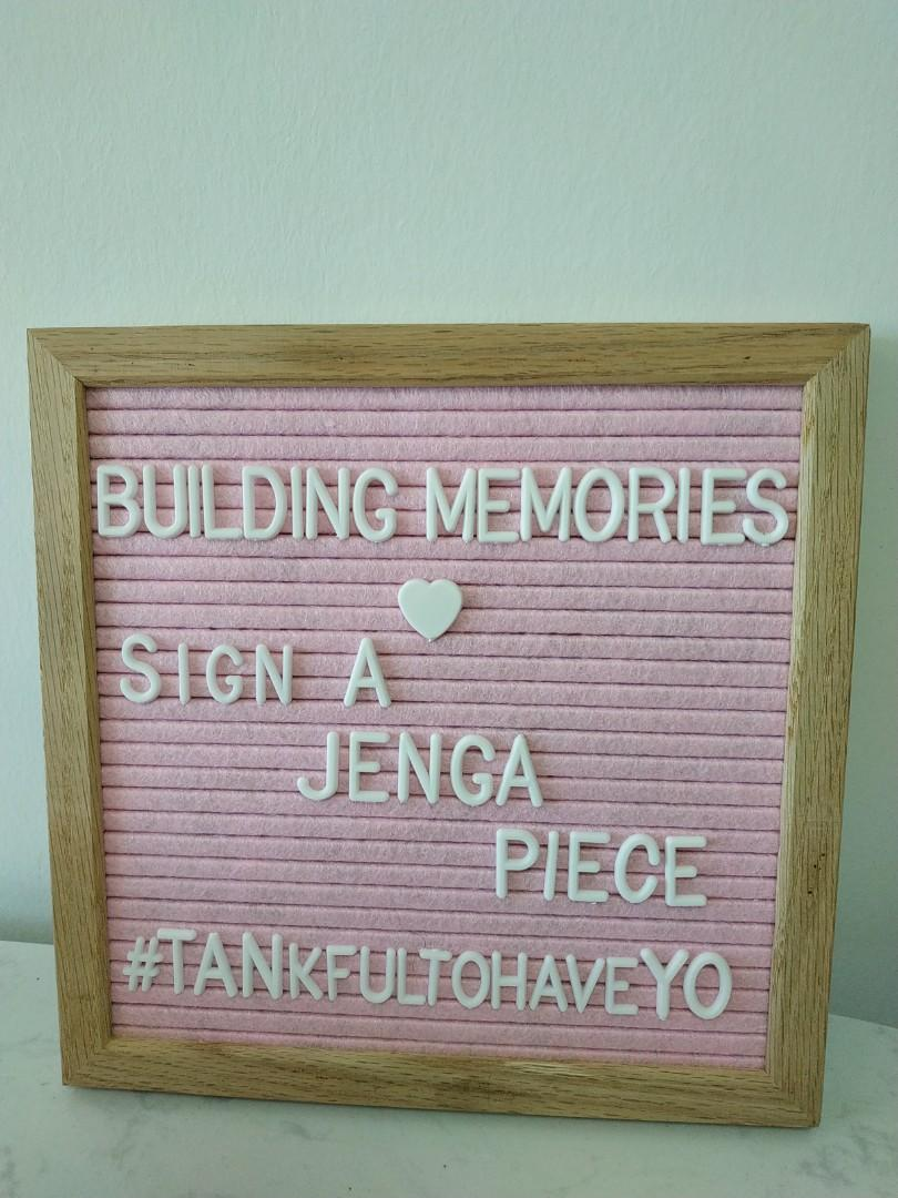 Pink felt letterboard
