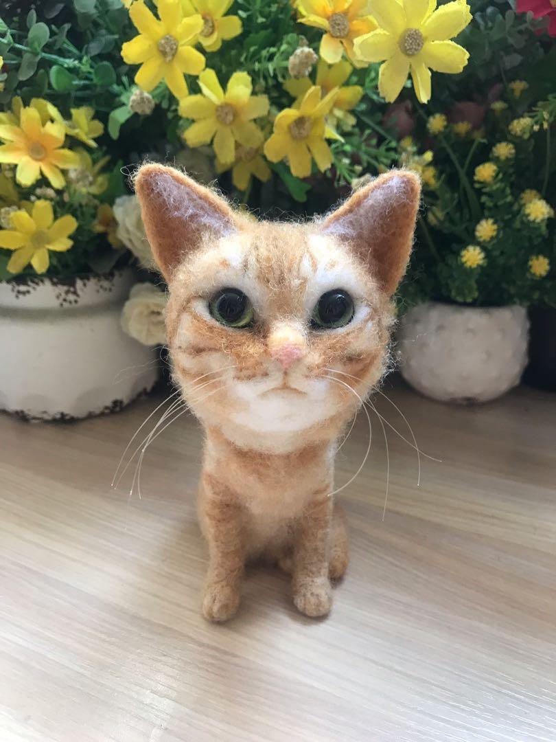 羊毛氈Q版貓咪
