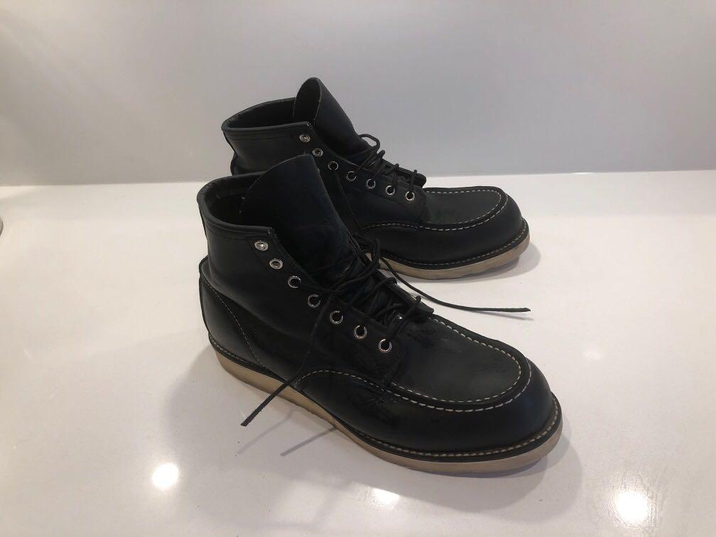 Red Wing shoes men's classic 6-inch moc black lightly used