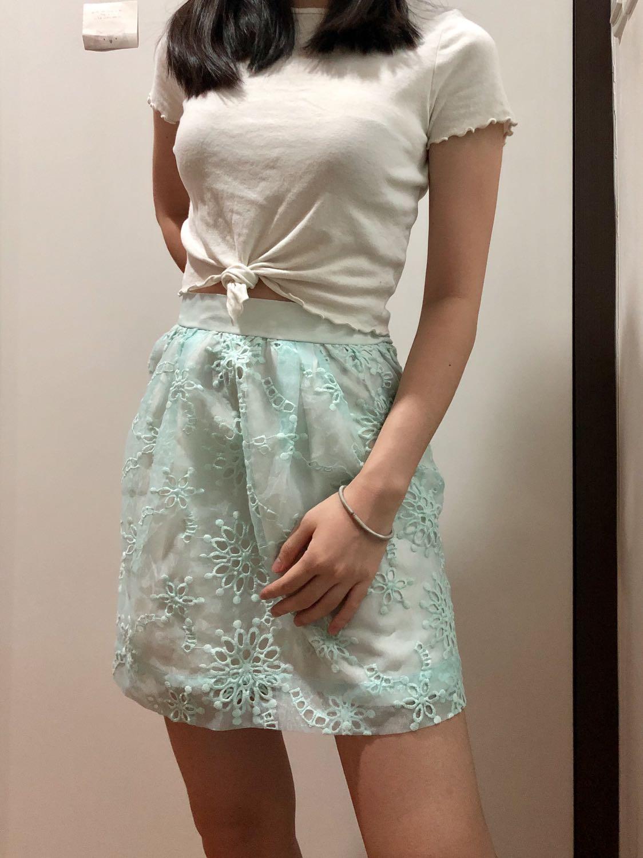 RTP $90 BNWT Lowry's Farm Baby Blue Broderie Mesh Puff Skirt