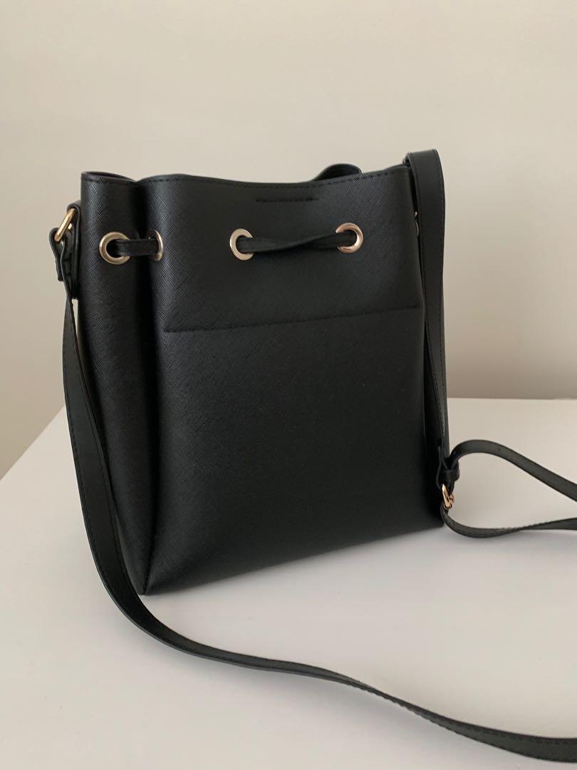 Tony Bianco Black Bucket Bag