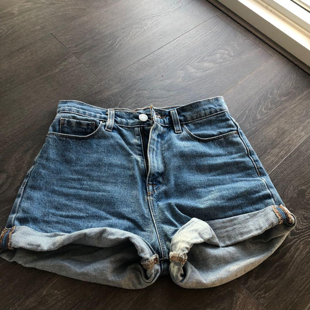 Urban Outfitters BDG Denim Mom High Waisted Shorts