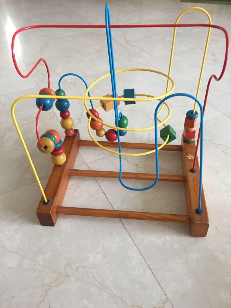Wooden Roller Coaster Bead Maze Toy #MRTRaffles
