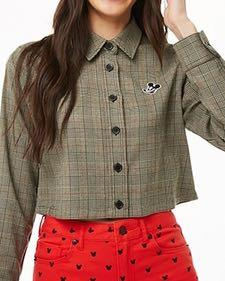 Mickey Patched Glen Plaid Shirt