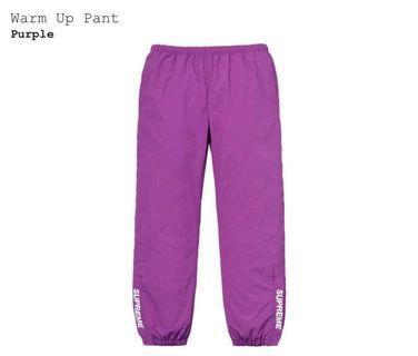 Supreme 18SS Warm Up Pants Purple 紫色 風褲 運動褲 Track Pants
