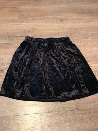 Velvet skirt Small