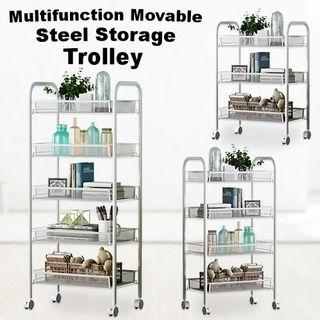 Multifunction Movable Steel Storage Trolley o