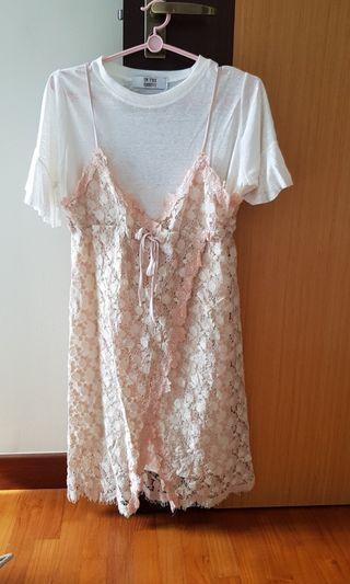 Korean 2 piece dress set
