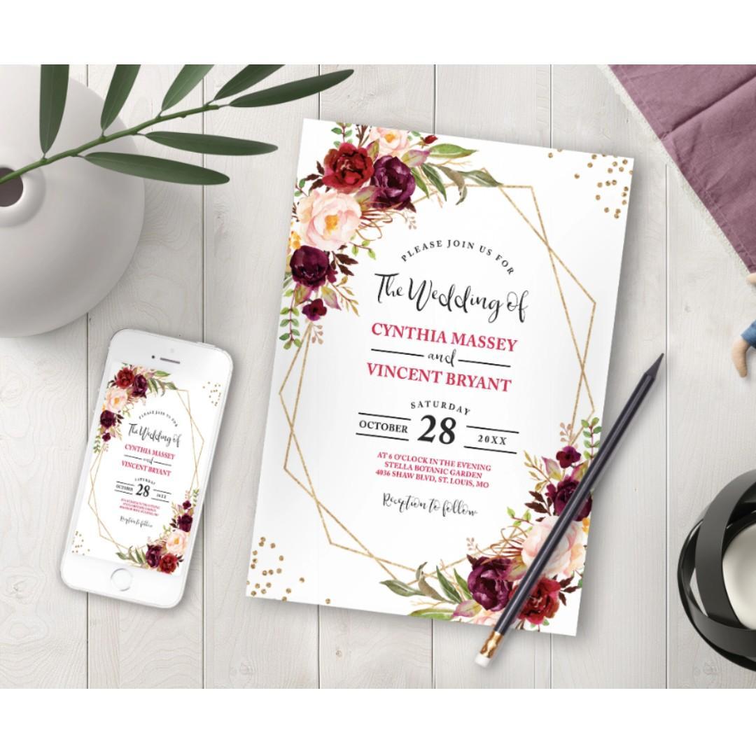 100 Professional Wedding Invitation Cards Design Craft