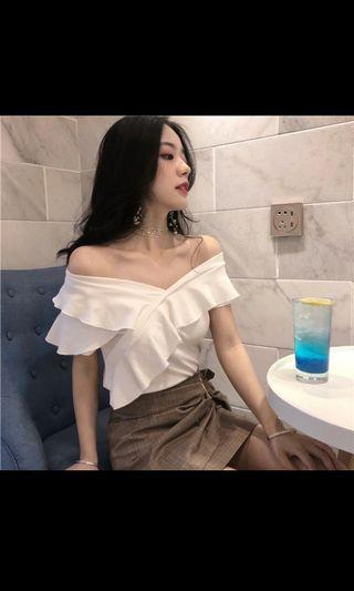 BNIB White Top Off Shoulder
